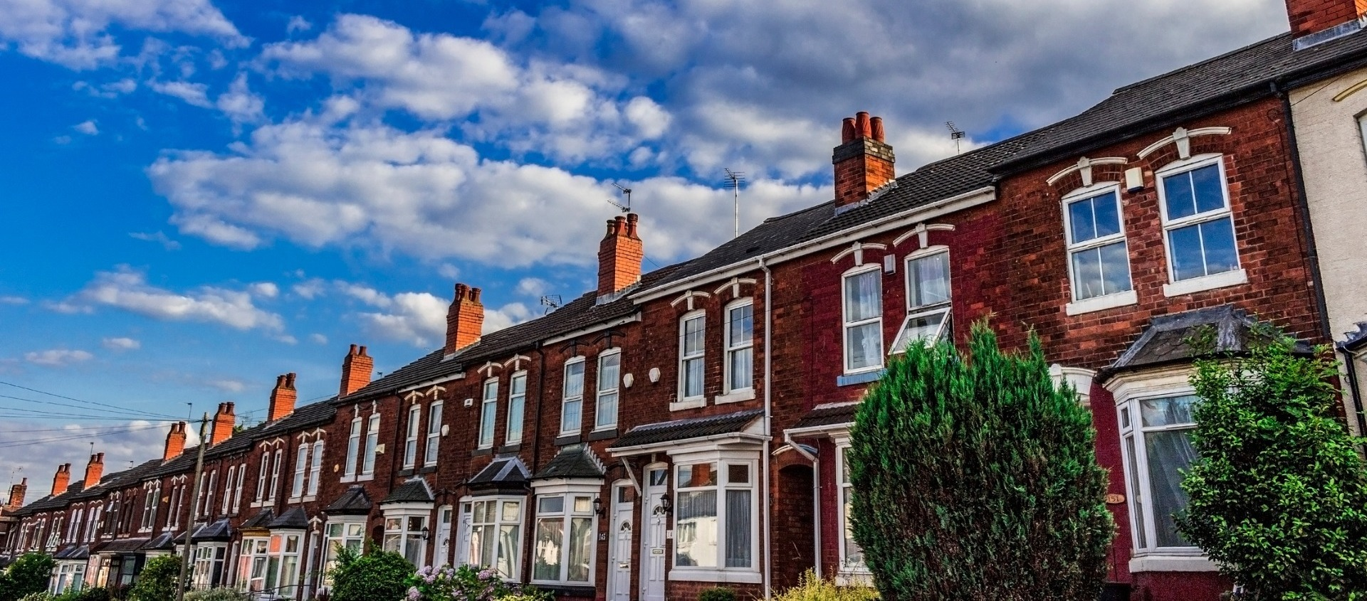 Row of terraced houses.