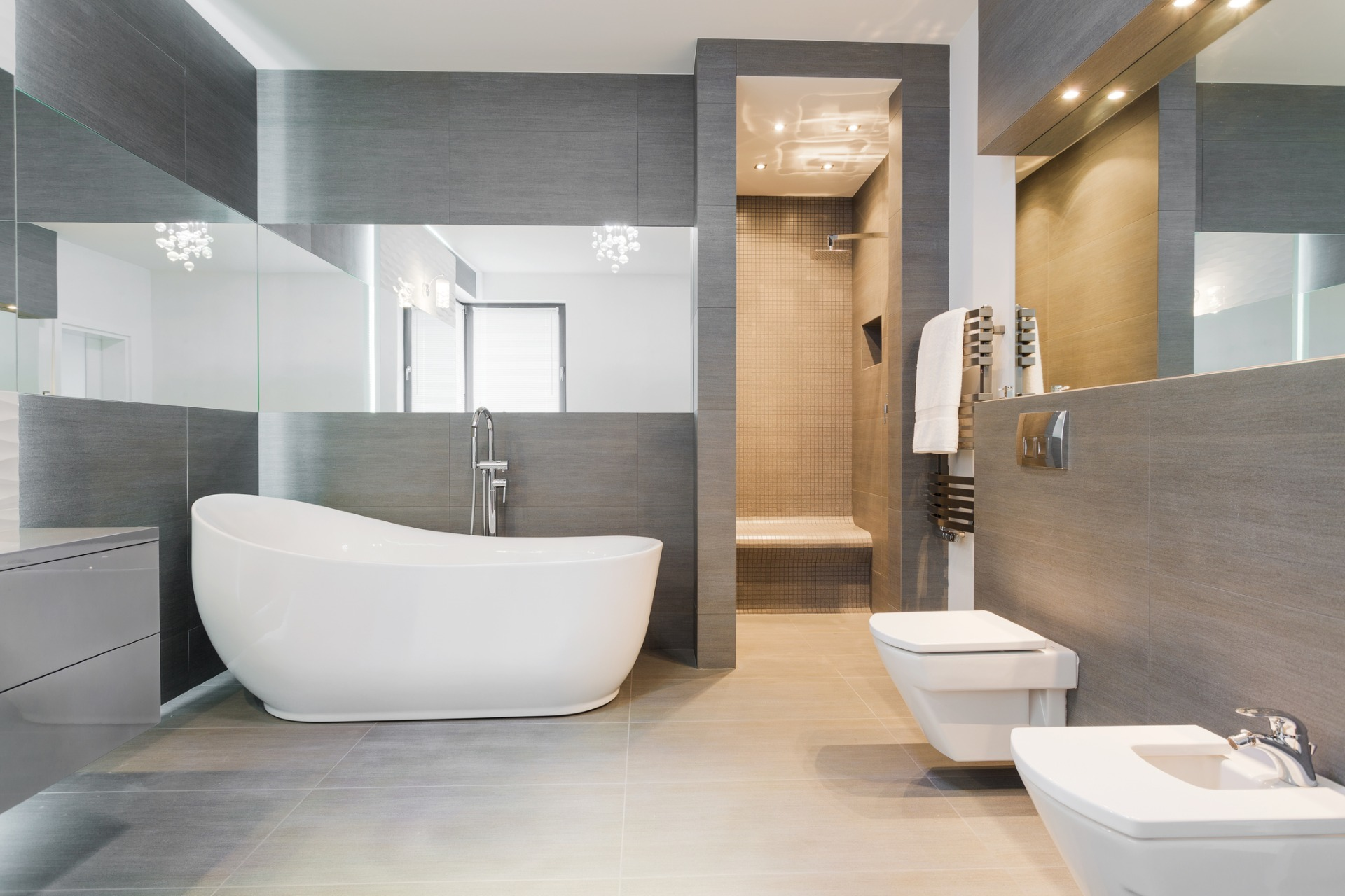 Stylish bathrooms by Jenkinson Potts Barnstaple North Devon.