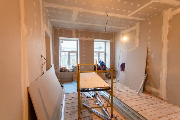 A room being renovated in Barnstaple North Devon.